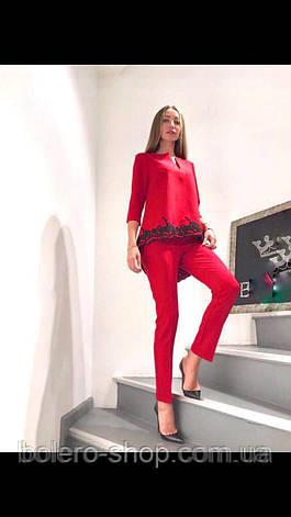 Костюм женский красный , фото 2