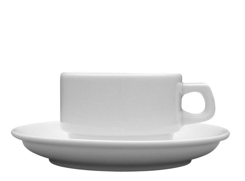 Чашка 150 мл. фарфоровая, белая Kaszub/Hel, Lubiana (блюдце 204-0604)