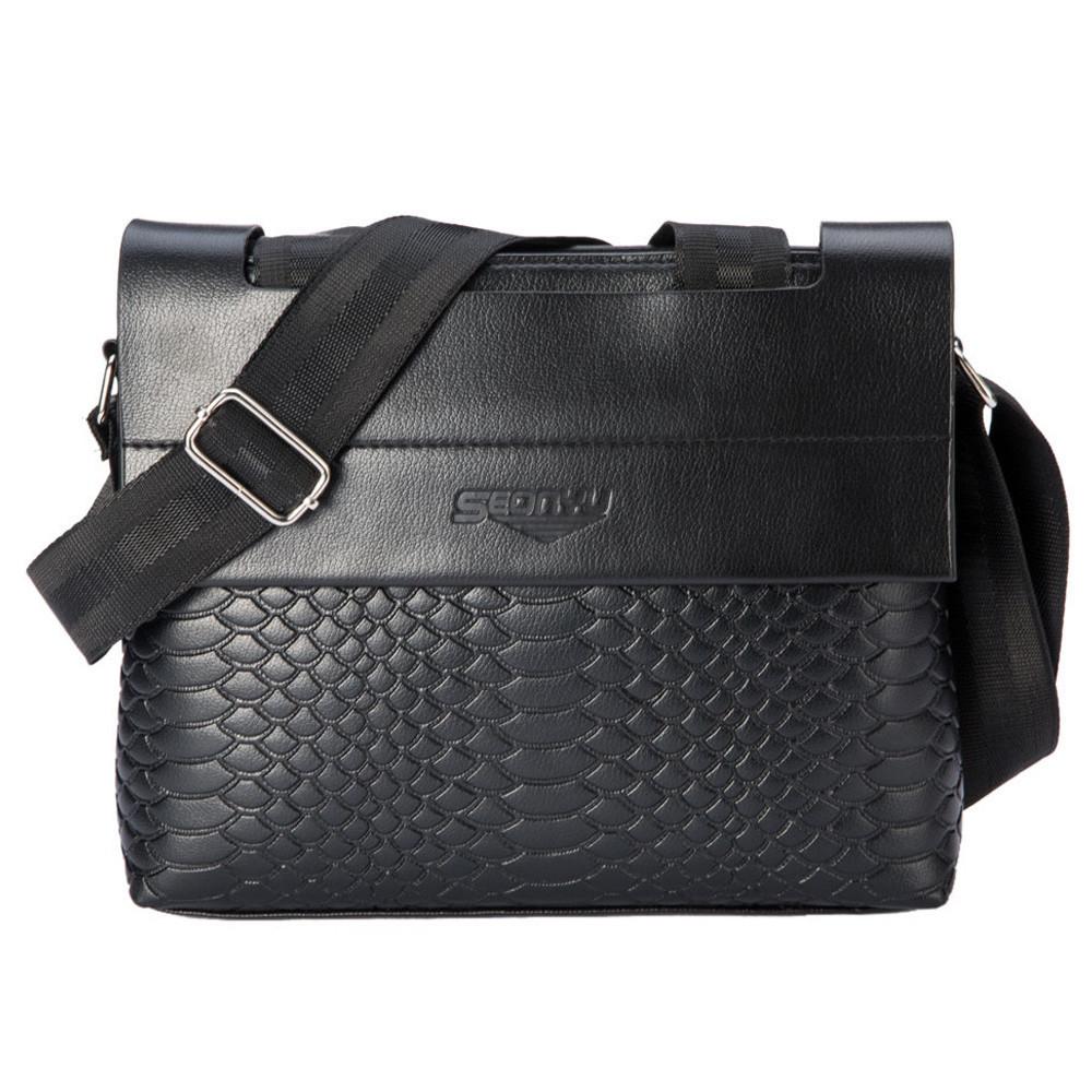 Мужская сумка Seonyu long. Черная.