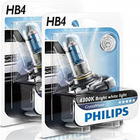 Автолампы Philips CrystalVision 4300K НB4