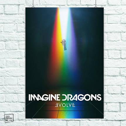 Постер Imagine Dragons (обложка, Evolve). Размер 60x42см (A2). Глянцевая бумага, фото 2