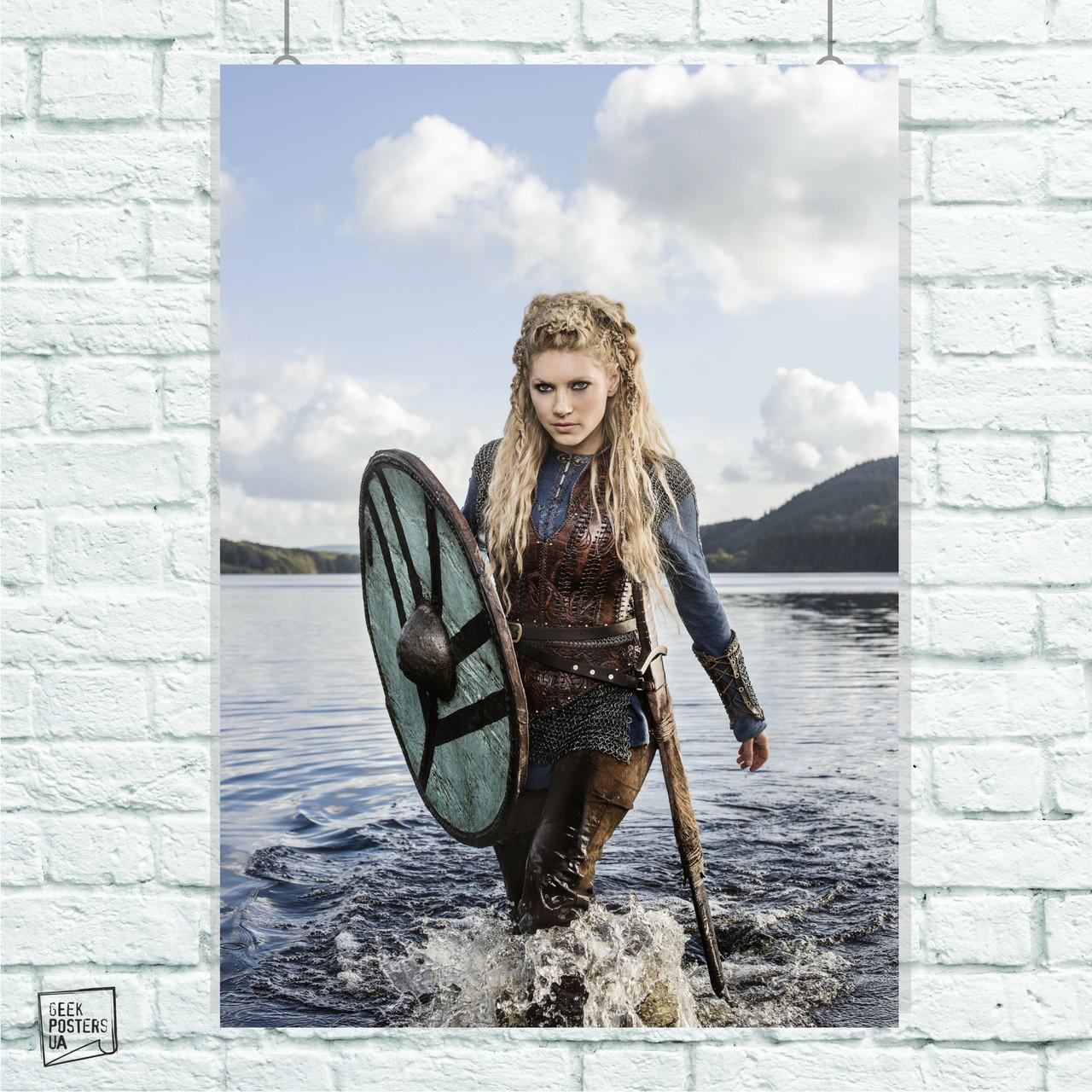 Постер Сериал Викинги, Vikings. Размер 60x42см (A2). Глянцевая бумага
