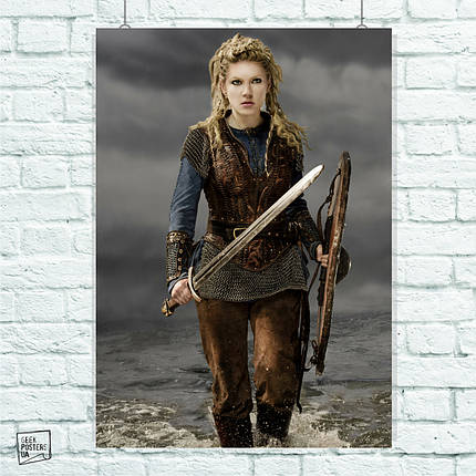 Постер Сериал Викинги, Vikings. Размер 60x42см (A2). Глянцевая бумага, фото 2