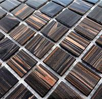 Мозаика с авантюрином коричневая Vivacer G20R