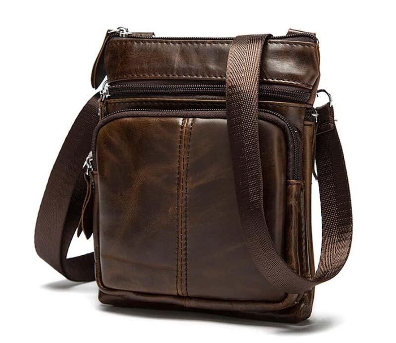 Мужская компактная сумка XP184 brown.