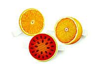 Набор декоративных прищепок Апельсин Арбуз 6 шт