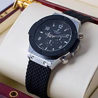 Кварцевые мужские наручные часы Hublot Silver