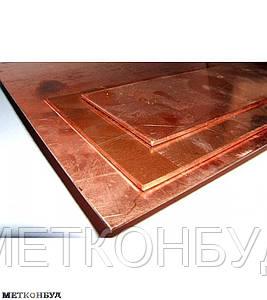 Лист медный М2 мягкий 0,6х600х1500 мм