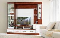 гостиная Онтарио-2 2200х2350х550мм кальвадос + белый глянец Світ Меблів