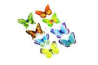 Handmade набор наклейка 3D бабочки разноцветные