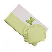 Комплект в коляску Duetbaby LUX (одеяло с подушкой) 005 салатовый 79024