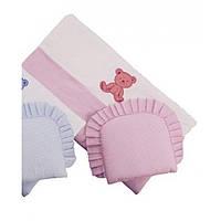 Комплект в коляску Duetbaby LUX (одеяло с подушкой) 005 розовый 79021