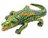 Шкатулка ювелирная Крокодил №004