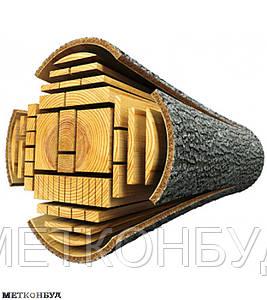 Брус строительный сосна 40х40х4500 мм