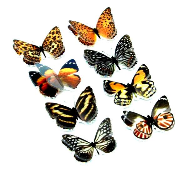 Handmade набор наклейка 3D бабочки темные