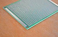Макетная плата 6х8 двухсторонняя зеленая монтажная плата 6х8 PCB 2мм шаг, фото 1
