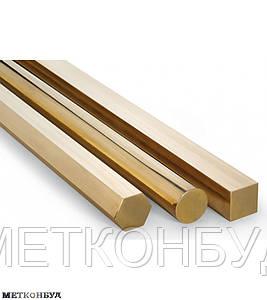 Шестигранник бронзовый БрКМЦ 12 мм