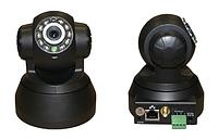 Камера беспроводная wi-fi t 9818 rw, цветная, поворотная, видеонаблюдение через интернет, подсветка, sd слот
