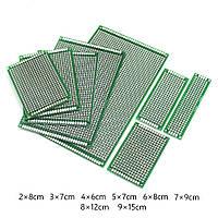 Макетная плата 10х22 двухсторонняя зеленая монтажная плата 10х22 PCB, фото 1