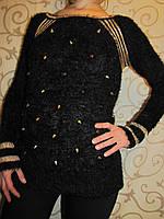 """Женская нарядная кофта """"Травка"""" с декорацией, 48-50р., фото 1"""