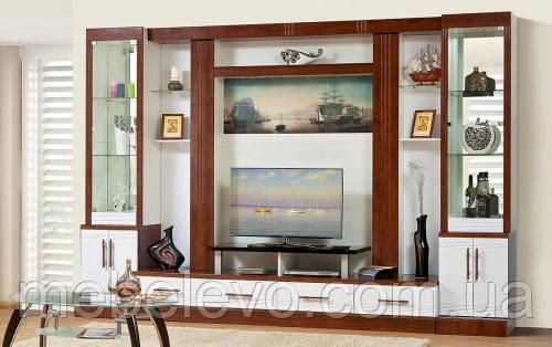 гостиная Онтарио-4 2300х3400х550мм кальвадос + белый глянец Світ Меблів, фото 2