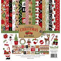Набір двостороннього паперу - Celebrate Christmas - Echo Park - 30х30
