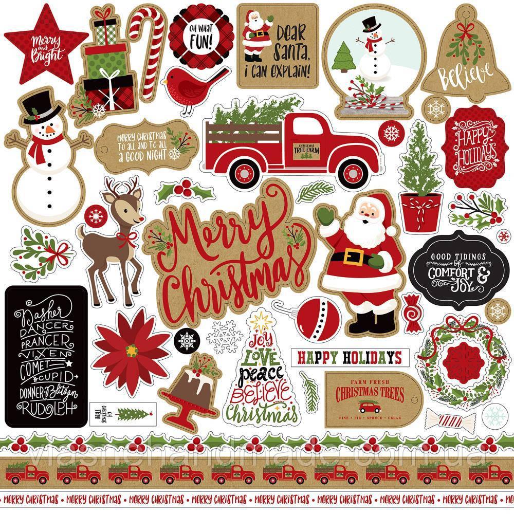 Наклейки - Celebrate Christmas - Echo Park - 30х30