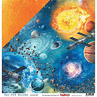 Папір двосторонній - Solar System - Far-Off Worlds - ScrapBerry's - 30х30