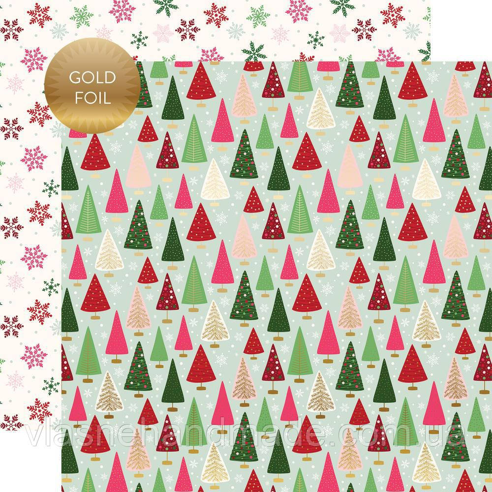 Папір двосторонній з фольгуванням - Winter Wonderland - Merry & Bright - Echo Park - 30х30