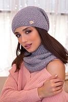 Комплект шапка и шарф-хомут Дуглас, фото 1