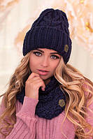 Комплект шапка и шарф-хомут Лорис, фото 1