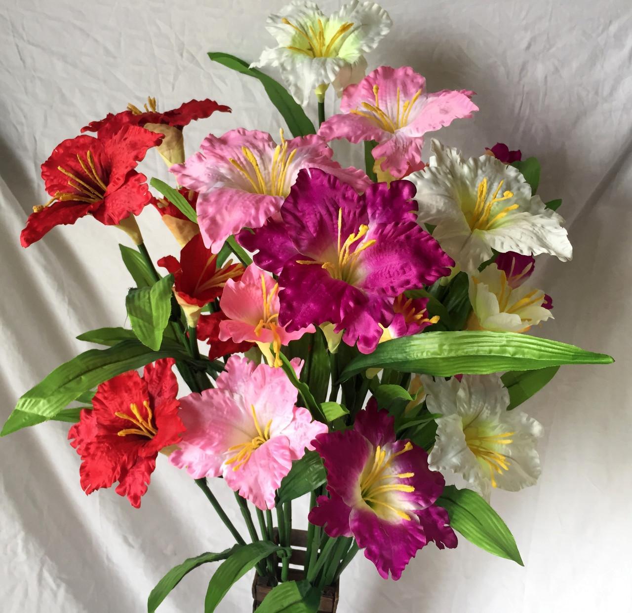 Искусственный  цветок Валлота прекрасная 3 головы