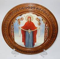 Деревянная тарель «Дева Мария»