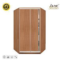 Угловой шкаф-купе ДСП + зеркало + комбинированный на 1 двери