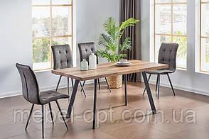Стол обеденный TM-160 в стиле Лофт, столешница МДФ омбре, ноги крашенный металл 120-160х80х76Н