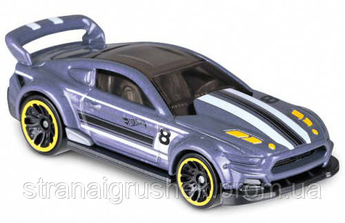 машинка hot wheels ford mustang белый