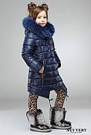Красивая теплая куртка зима для девочки 28, 30 размер.Детская верхняя зимняя одежда!