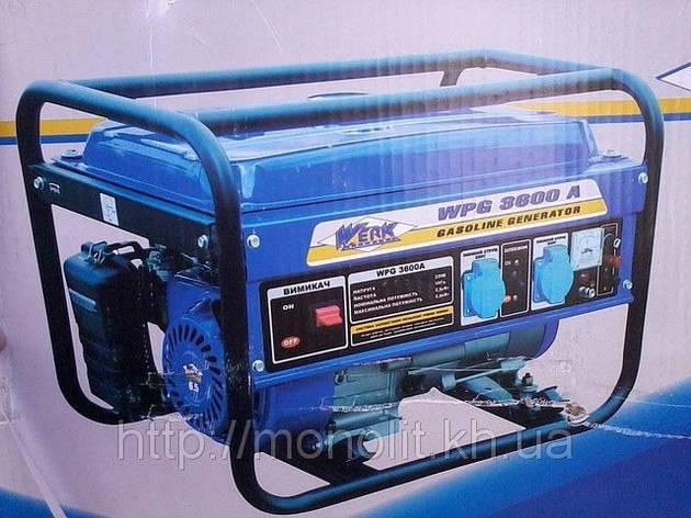 Бензиновый генератор Werk-3600A, фото 2