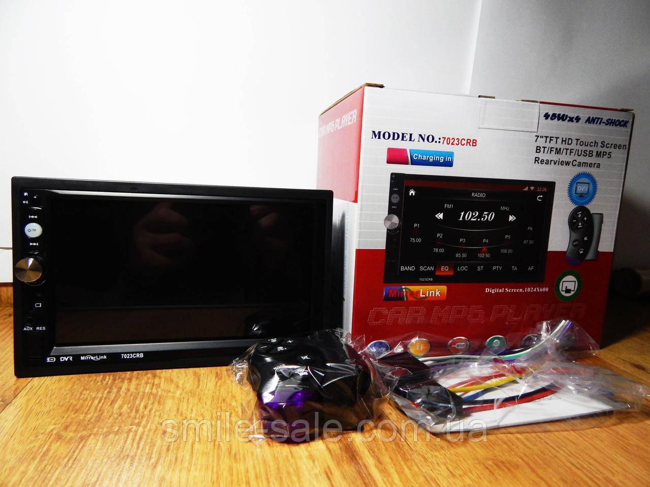 "Автомагнитола 2Din Pioneer 7023CRB 7"" Экран, Bluetooth, Читает ВИДЕО+ Пульт на руль+Рамка+Шахта"
