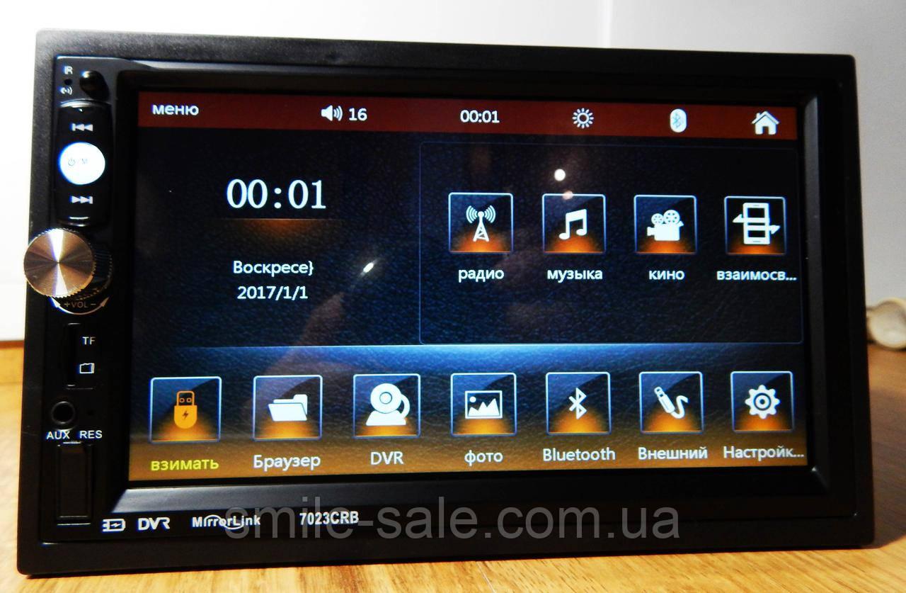 "Автомагнитола 2Din Pioneer 7023CRB 7"" Экран, Bluetooth, Читает ВИДЕО+ Пульт на руль+Рамка+Шахта, фото 1"