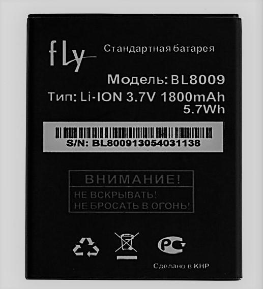 Аккумулятор батарея fly BL8009/FS451