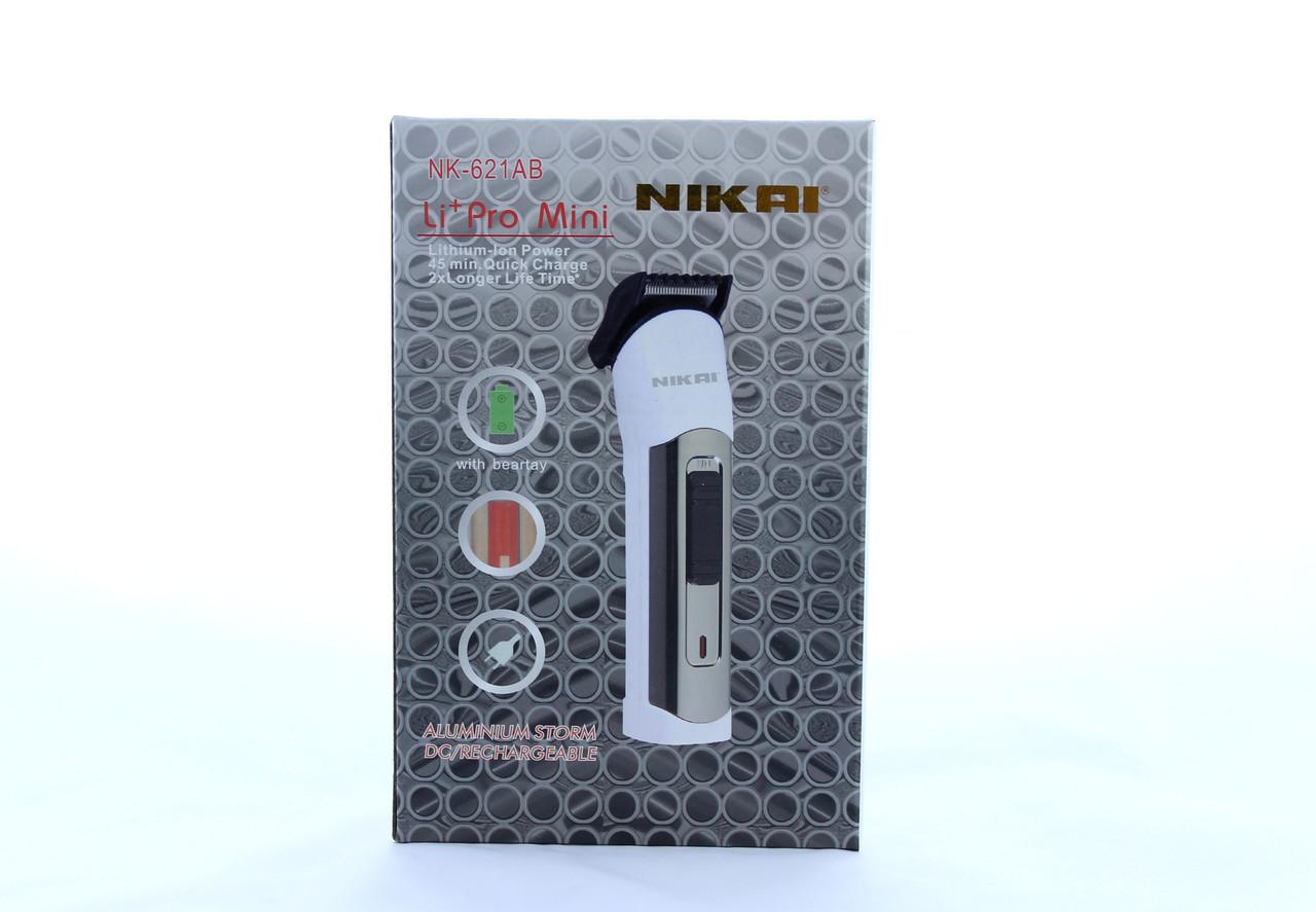Машинка для стрижки волос Nikai NK- 621 с аккумулятором