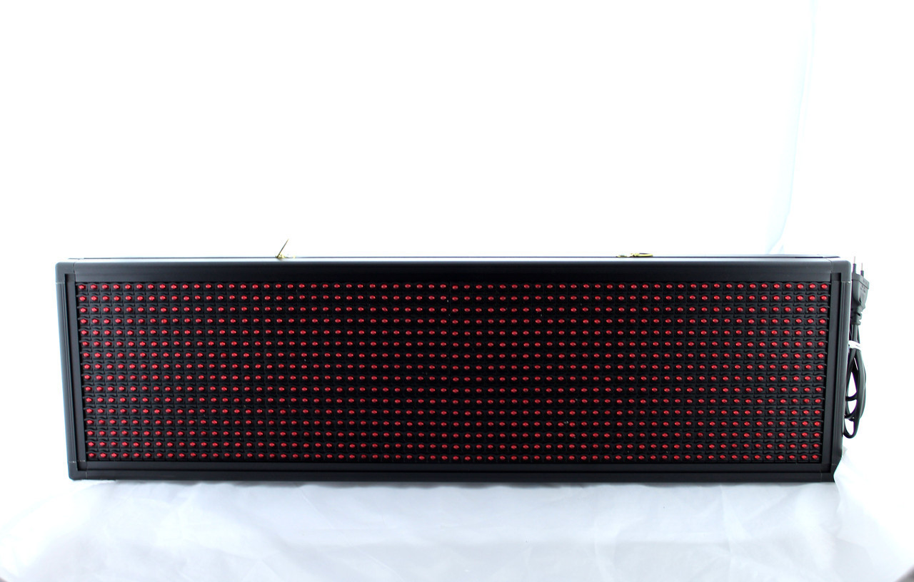 Бегущая строка с белыми диодами 200*23 White / Программируемые табло / Светодиодная LED вывеска