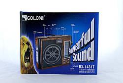 Радиоприемник Golon RX 1431 T портативная колонка USB /SD / MP3/ FM / фонарик