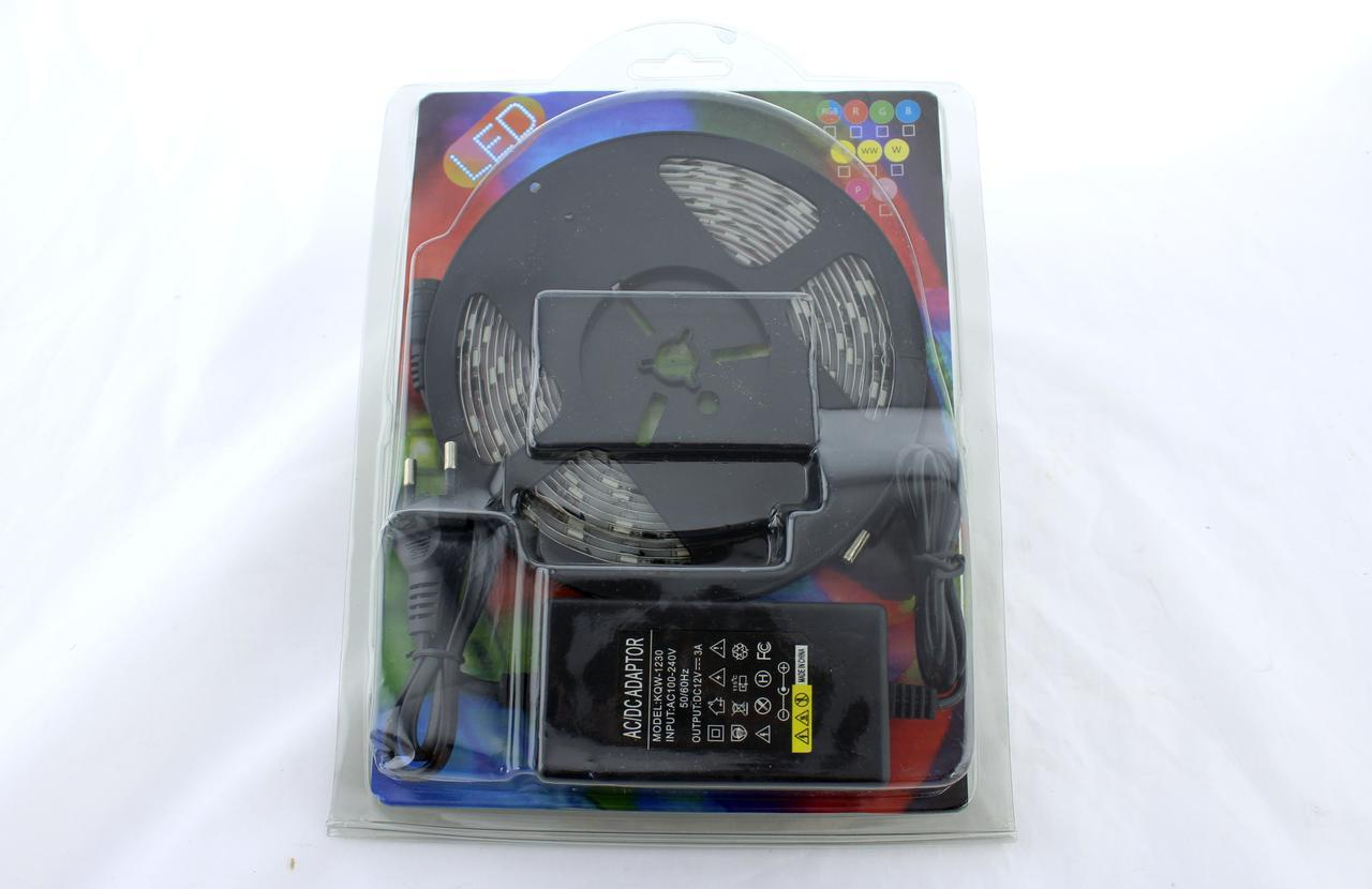 Светодиодная лента RGB 5050 +БЛОК ПИТАНИЯ. LED лента 5050 RGB комплект 5 м