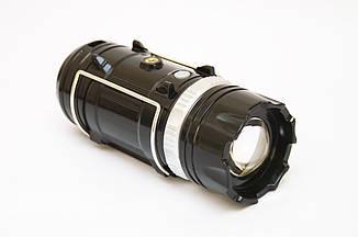 Кемпинговая LED лампа SB-9699 фонарик с солнечной панелью + power bank