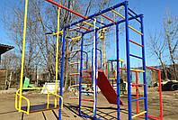 Комплекс спортивно-игровой с горкой и качелями, уличный., фото 3