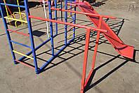 Комплекс спортивно-игровой с горкой и качелями, уличный., фото 6