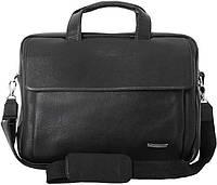 Оригинальная сумка кожаная для ноутбука до 15.6 дюймов, VIP COLLECTION 306A flat черный
