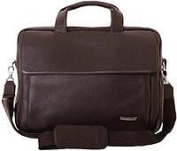 Оригинальная сумка кожаная для ноутбука до 15.6 дюймов, VIP COLLECTION 306B flat коричневый